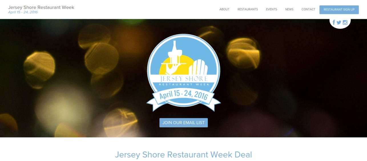 Jersey Shore Restaurant Week