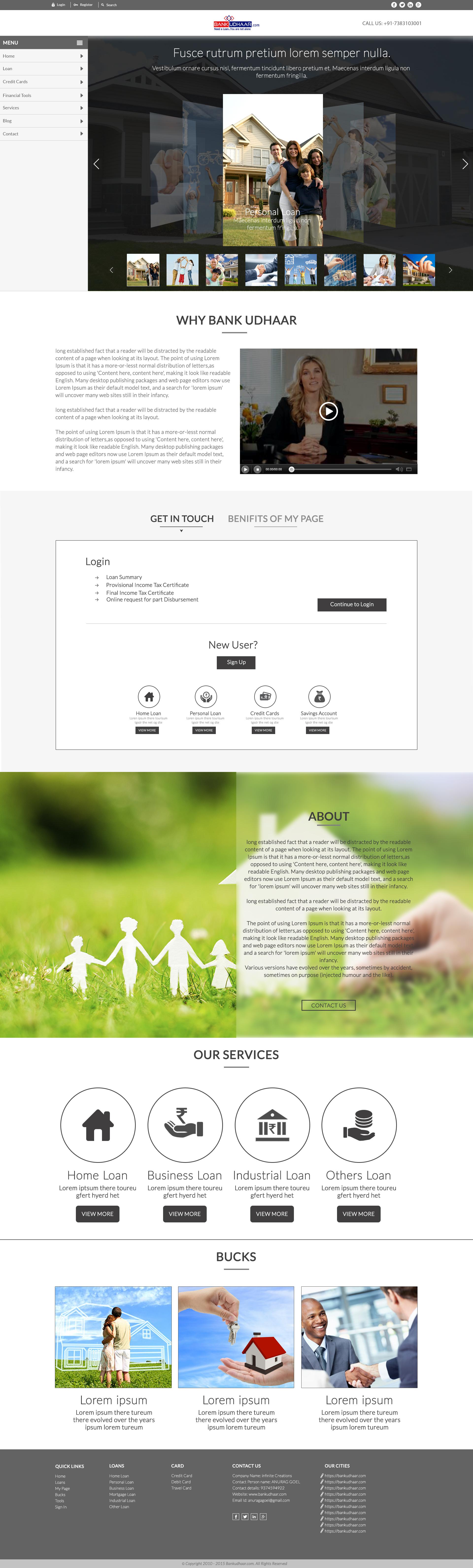 Bank Udhaar Web Design